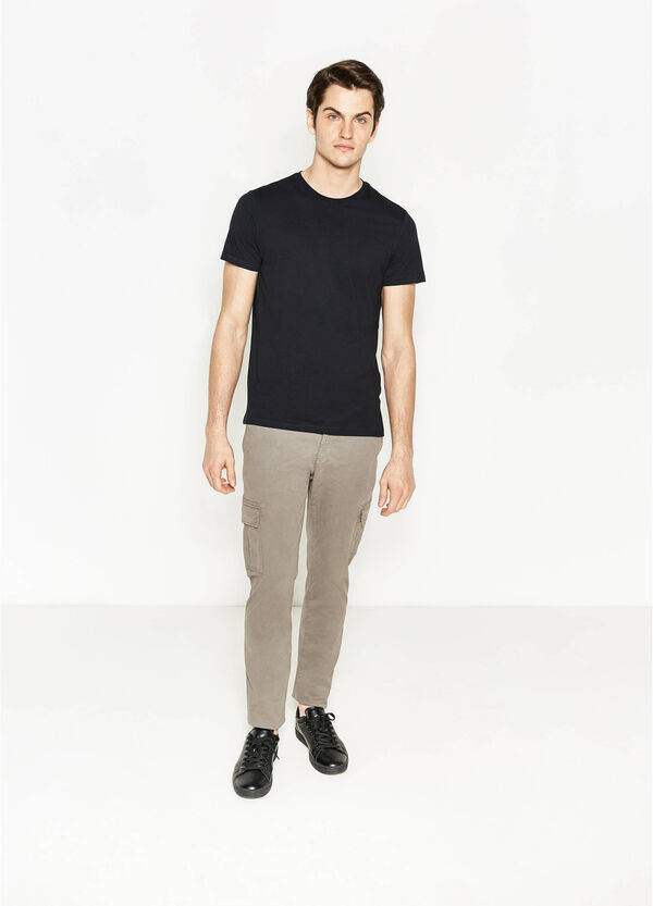 Slim fit, stretch cargo chino trousers | OVS
