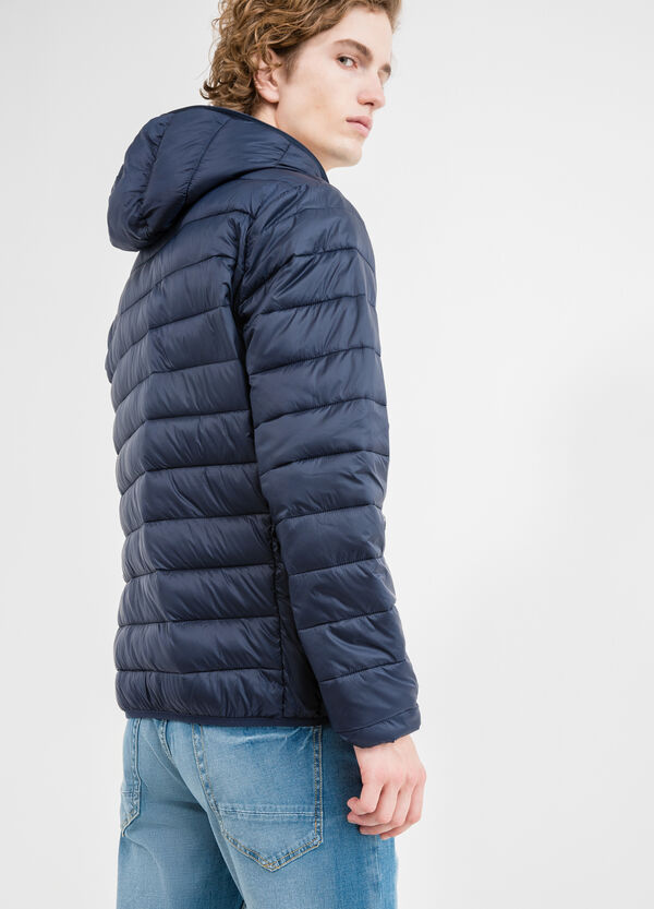 Quilted down jacket with hood | OVS