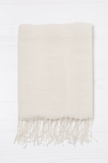 Solid colour pleated scarf