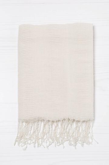 Sciarpa plissettata tinta unita, Bianco gesso, hi-res