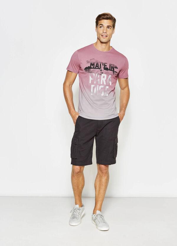 T-shirt in cotone effetto degradé | OVS
