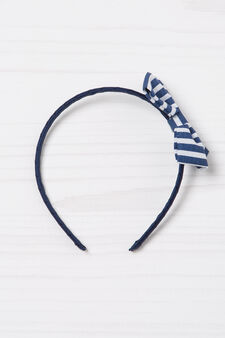 Hair band with bow, White, hi-res