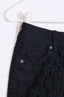 Solid colour 100% cotton shorts, Black, hi-res