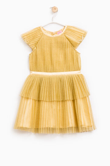 Pleated tulle dress, Golden Yellow, hi-res