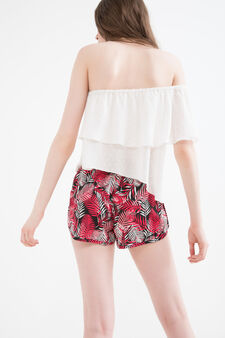 Shorts pura viscosa fantasia, Multicolor, hi-res