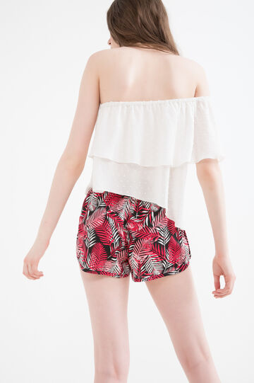 100% viscose patterned shorts, Multicolour, hi-res