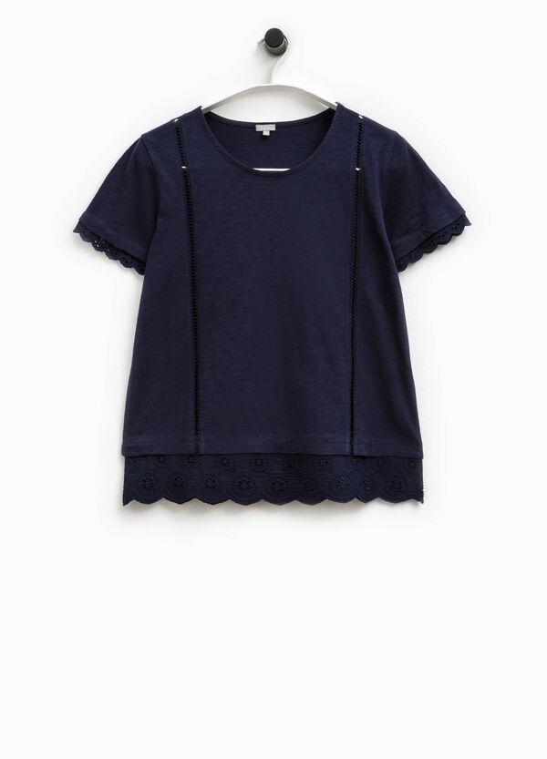 Camiseta con cuello redondo y encaje Smart Basic | OVS
