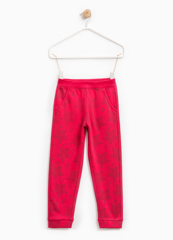 Cotton joggers with star pattern | OVS