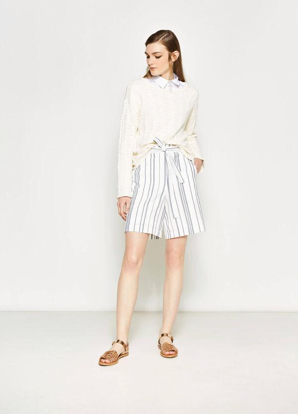Striped Bermuda shorts in 100% cotton | OVS