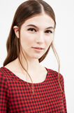 Short dress in stretch cotton, Black/Red, hi-res
