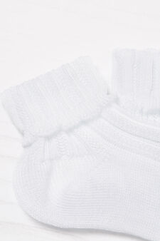 Calze corte puro cotone, Bianco, hi-res