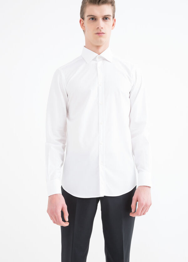 Solid colour slim-fit shirt | OVS