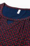 Patterned pyjama top in 100% viscose, Navy Blue, hi-res