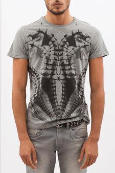 T-shirt puro cotone con stampa, Grigio chiaro, hi-res