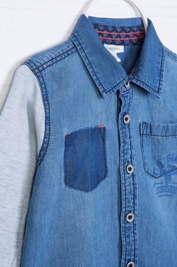 Camicia di jeans effetto delavé, Denim, hi-res
