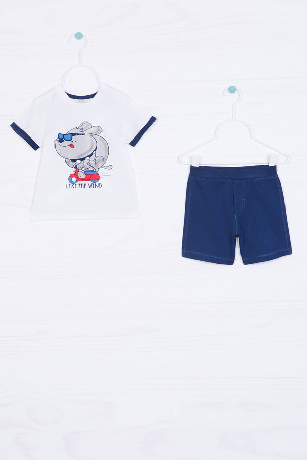 Printed cotton gym outfit | OVS