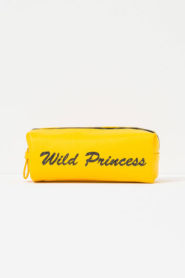 Case with printed lettering, Yellow, hi-res