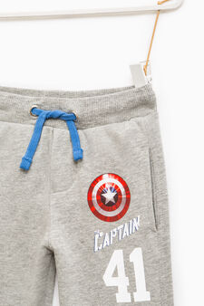 Joggers with Captain America print, Grey Marl, hi-res