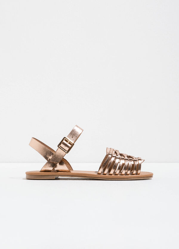 Sandals with shiny straps on the upper | OVS