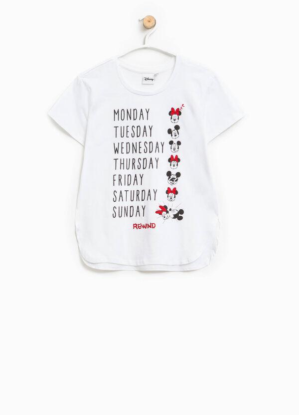 T-shirt stampata Minnie e Mickey Mouse   OVS