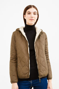 Jacket with faux fur lining, Light Brown, hi-res