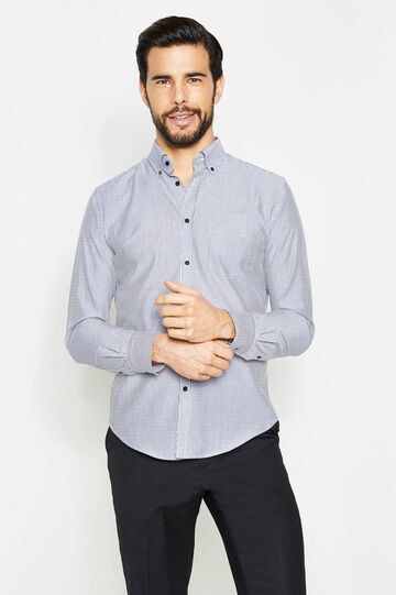 Striped slim-fit formal shirt