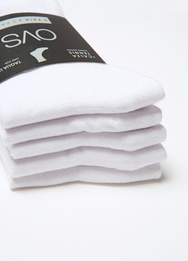 Five-pack of long cotton socks | OVS