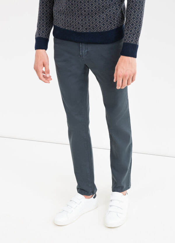 Pantaloni slim fit cotone stretch | OVS