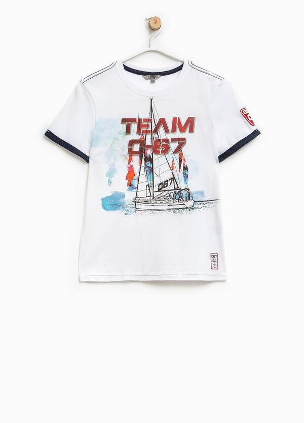 T-shirt stampata con inserti a contrasto   OVS
