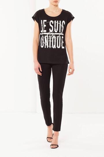 T-shirt with a print, Black, hi-res