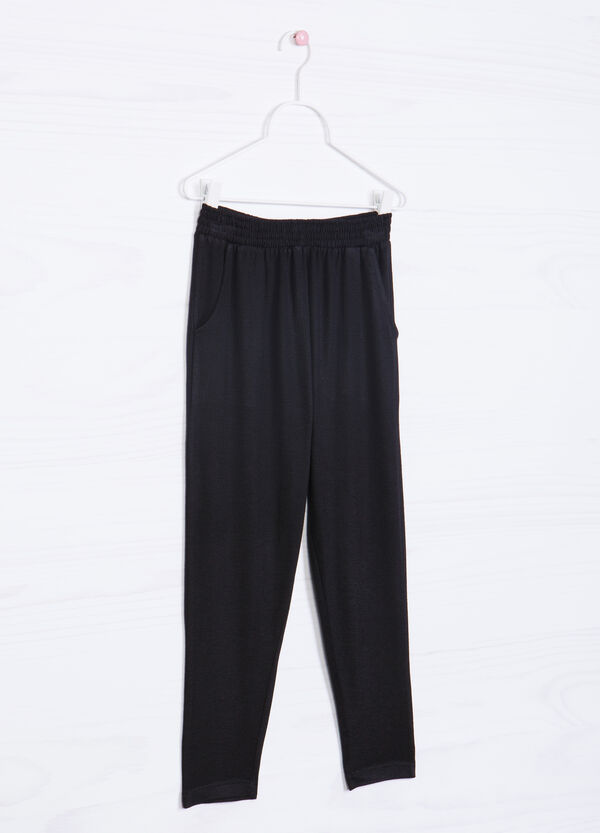 Viscose blend trousers | OVS