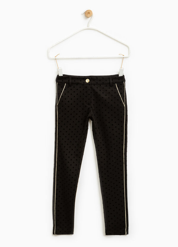 Polka dot trousers in 100% cotton | OVS