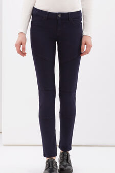 Stretch cotton trousers., Dark Blue, hi-res