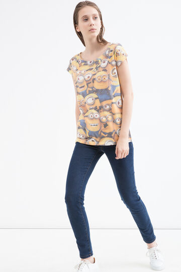 T-shirt con stampa Minions, Bianco, hi-res