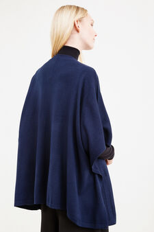 Cape with buttonless opening, Blue, hi-res