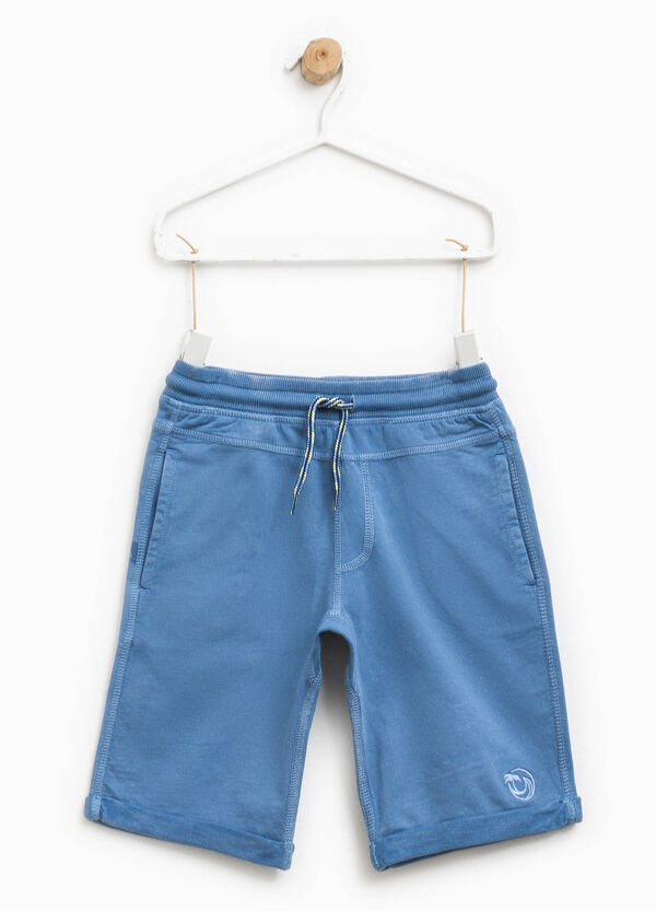 Embroidered Bermuda shorts with turn ups | OVS