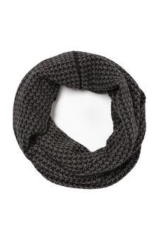 Solid colour loop scarf, Grey Marl, hi-res