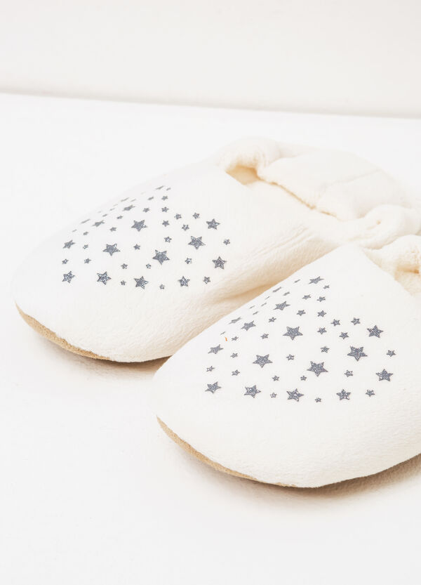 Solid colour star print slippers | OVS