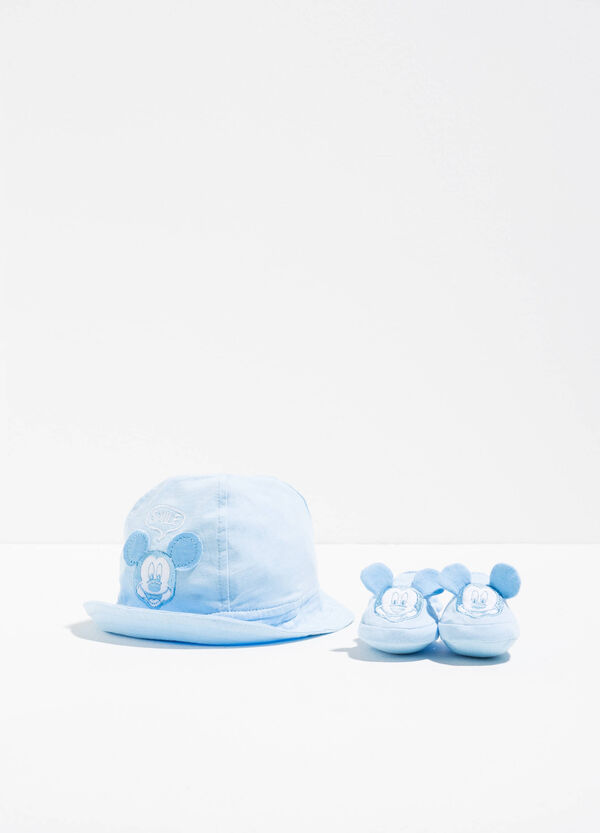 Mickey Mouse hat and baby shoes set | OVS
