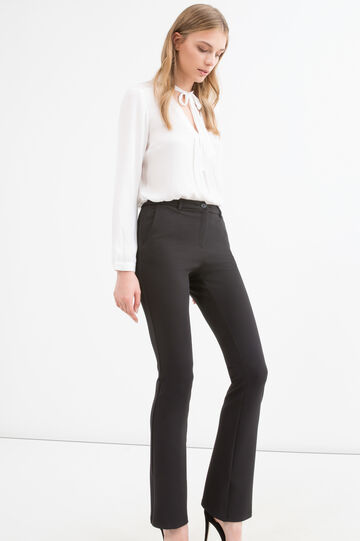 Stretch jersey trousers, Black, hi-res