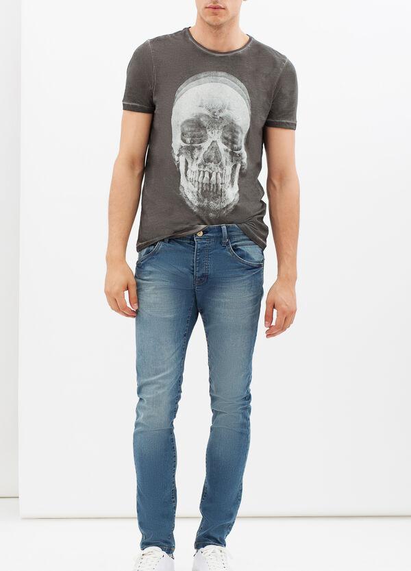 T-shirt degradé con stampa | OVS