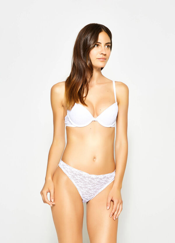 Lace thong with bow | OVS