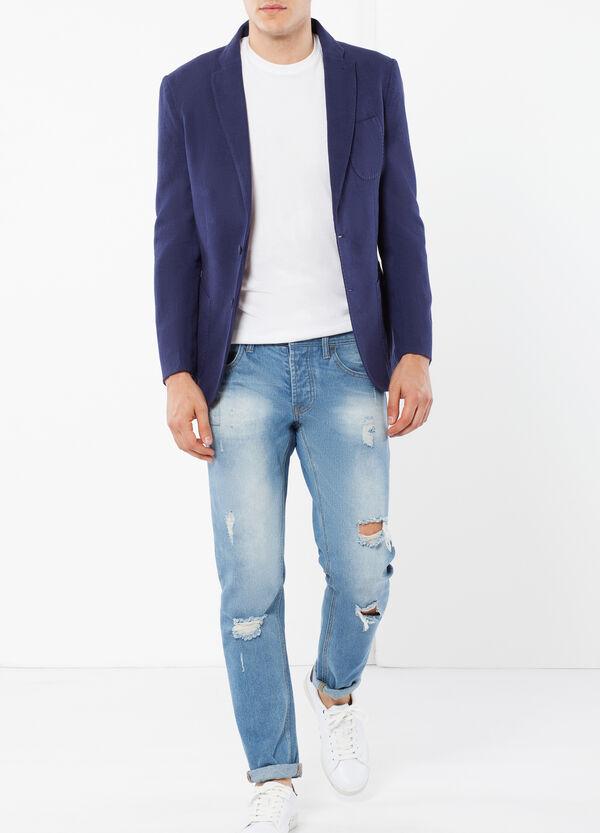 Two-button, linen-blend jacket | OVS