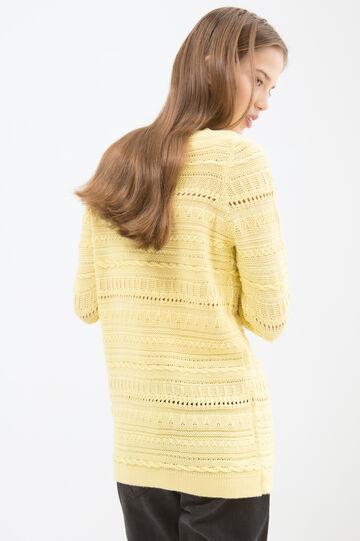 Pullover tricot misto cotone, Giallo limone, hi-res
