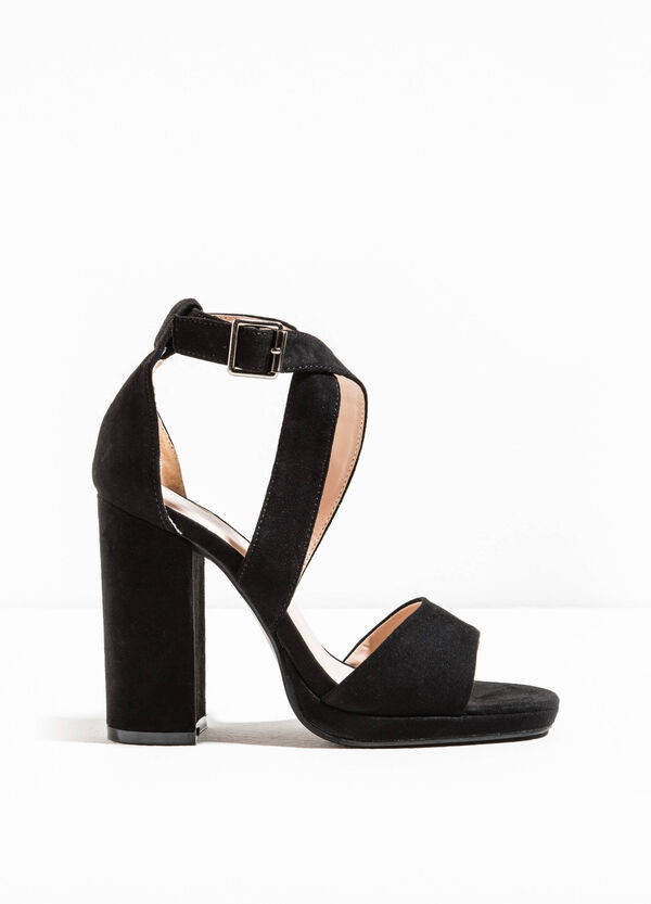 Crossover sandals with chunky heel | OVS