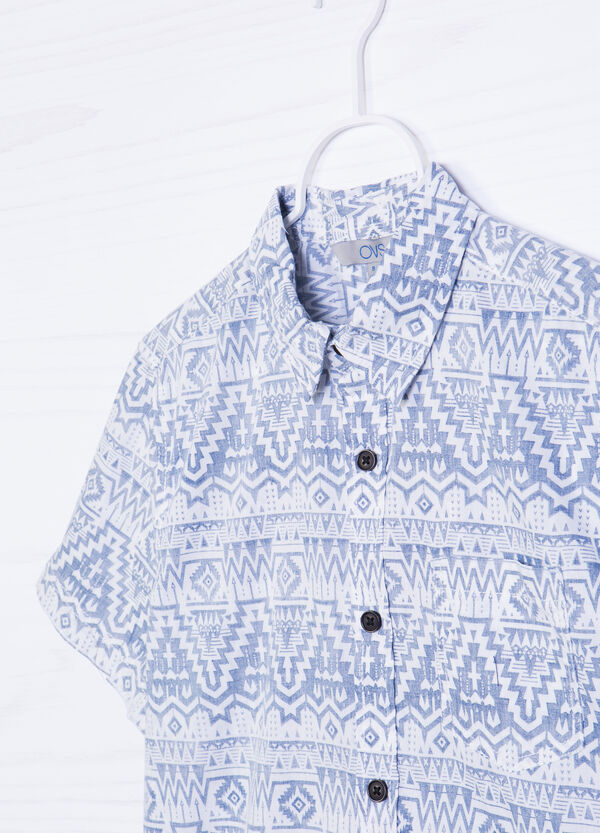 Cotton T-shirt with print on pocket | OVS