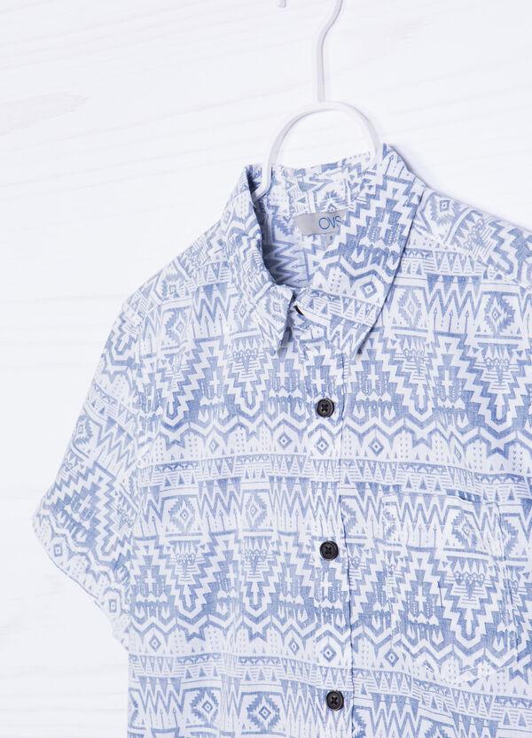 Camicia in cotone stampa taschino | OVS
