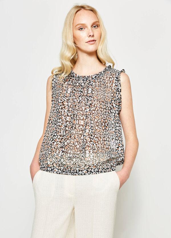 Blusa semitransparente con estampado | OVS