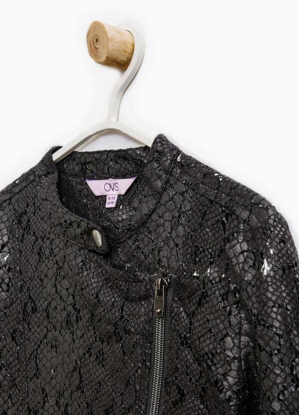 Cotton blend openwork jacket | OVS