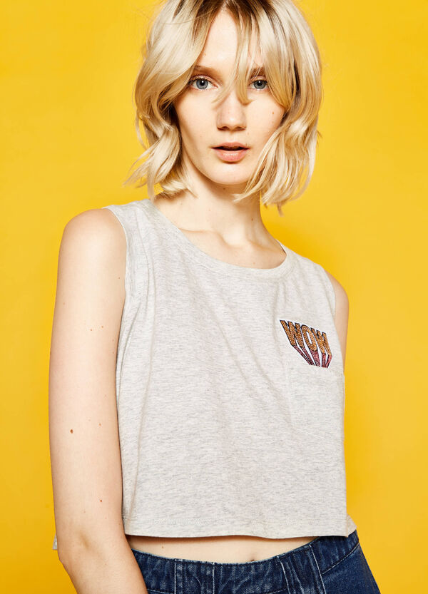 Top with pocket and sequins | OVS